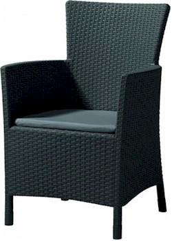 Dante alacsony támlás kerti szék világos szürke