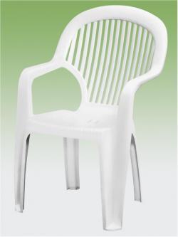 Toronto kerti szék magastámlás fehér Flair
